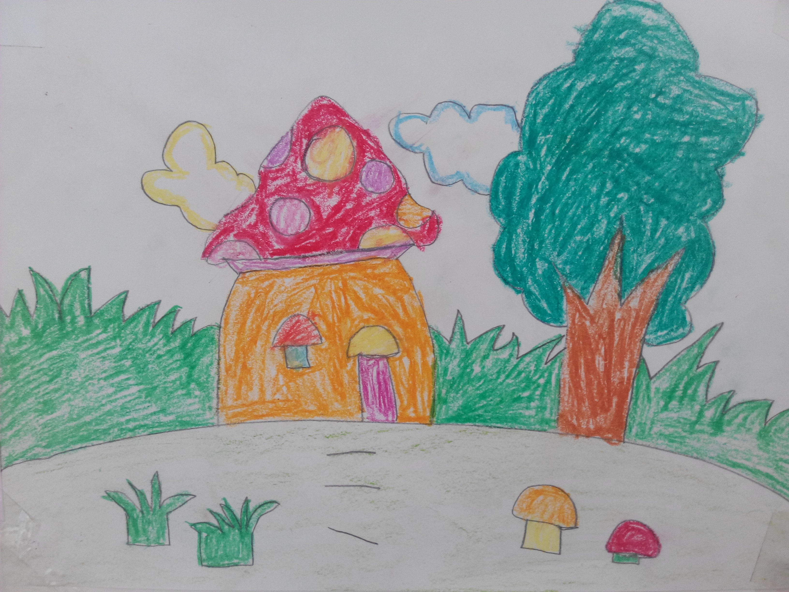 作品名称: 《蘑菇屋》