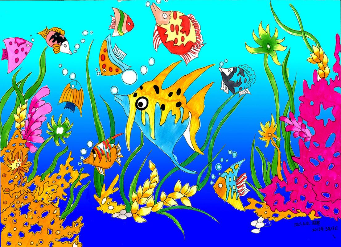 手工海绵纸海底世界